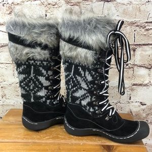 Muk Luks White Gwen Lace-up Boots NWT